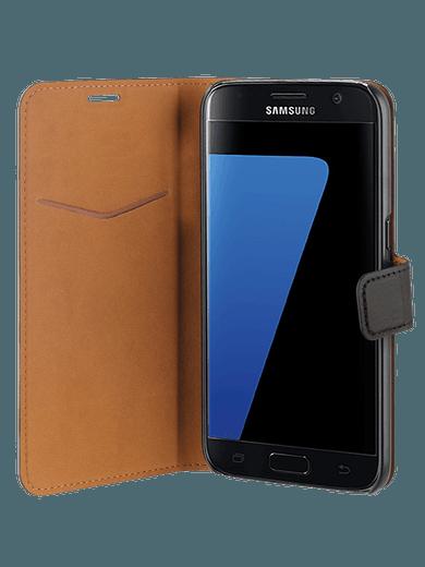freenet Basics Premium Wallet für Galaxy S7 schwarz