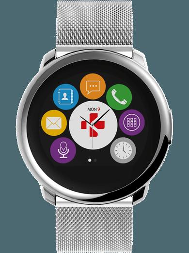 MyKronoz ZeRound Premium Smartwatch silber