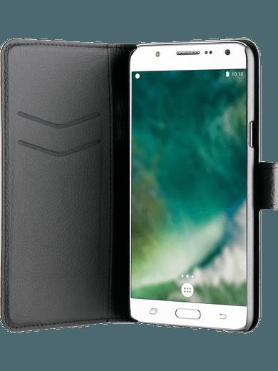 XQISIT Slim Wallet Samsung Galaxy J7 (2016) Schwarz