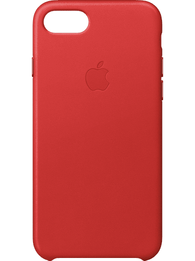 Apple Leather Case iPhone 6/6s/7/8 Rot