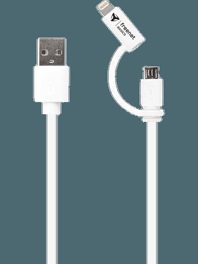 freenet Basics Combo micro-USB & Lightning 180cm weiß