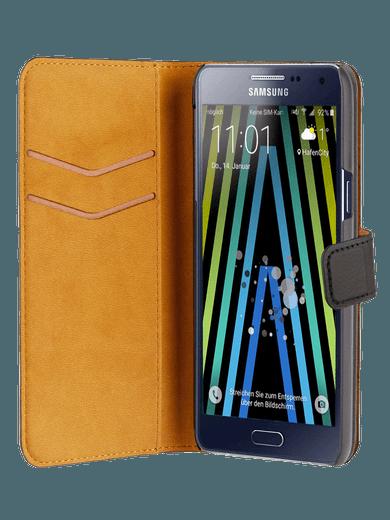 freenet Basics Premium Wallet für Galaxy A3 (2017) schwarz
