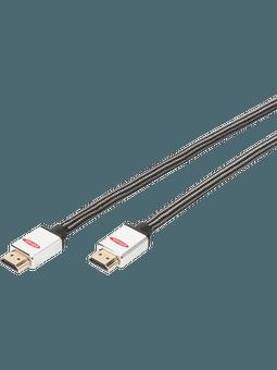 ednet. HDMI Kabel Typ A - 2m schwarz Vorderseite