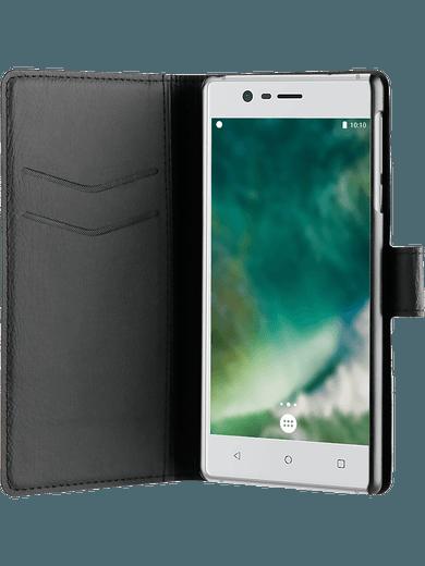 XQISIT Slim Wallet Nokia 3 Schwarz