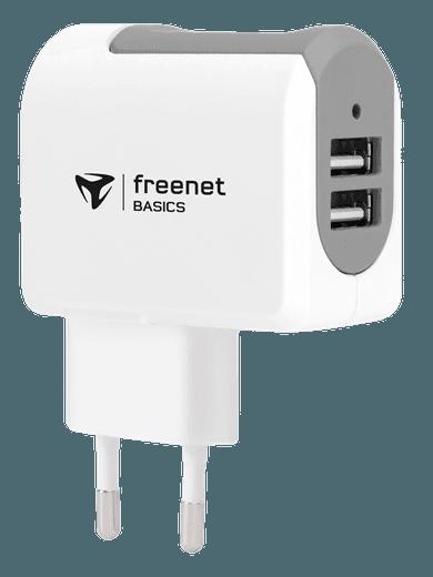 freenet Basics Reiselader 3,4A Dual USB Weiß